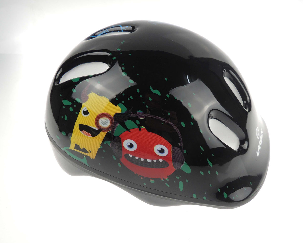 Шлем роликовый Larsen Monsters, цвет: черный. Размер S (46-49 см) шлем роликовый larsen h1flower