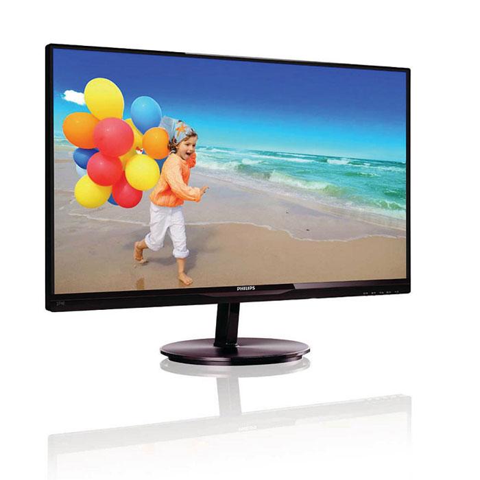Philips 274E5QHSB (00/01), Black монитор274E5QHSBСтильный дисплей Philips 274E5QHSB (00/01) с ультратонкой рамкой и экраном AH-IPS позволяет насладиться потрясающим реалистичным изображением. Благодаря технологии Mobile HD Link к дисплею можно подключать смартфон.Технология MHL для воспроизведения мобильного контента на большом экране: Mobile High Definition Link (MHL) — это мобильный аудио-/видеоинтерфейс для прямого подключения мобильных телефонов и других портативных устройств к мониторам высокой четкости. При помощи дополнительного кабеля MHL вы можете подключать свое мобильное устройство, оснащенное технологией MHL, к этому большому MHL-дисплею Philips и смотреть HD-видео в прекрасном качестве и с цифровым звуком. На большом экране можно играть в мобильные игры, смотреть фотографии, фильмы, пользоваться другими приложениями и одновременно заряжать мобильное устройство, благодаря чему аккумулятор никогда не разрядится во время просмотра. Дисплей AH-IPS обеспечивает превосходное качество изображения и широкий угол обзора: Благодаря использованию передовых панелей AH-IPS с улучшенной конструкцией новейший дисплей Philips отличается превосходной цветопередачей, быстрым временем отклика и пониженным энергопотреблением по сравнению с другими широкоформатными дисплеями. По сравнению со стандартными TN-панелями дисплеи AH-IPS излучают меньше гамма-лучей, что гарантирует неизменное качество изображения даже при угле обзора 178/178 градусов и повернутом дисплее. Превосходное качество создаваемого изображения делает этот дисплей идеальным для приложений, требующих неизменно точной передачи цветов и яркости, таких как фоторедакторы, графические приложения и веб-браузеры.Ультратонкая рамка в минималистичном стиле: Новые дисплеи Philips отличаются не только панелями, выполненными по новейшим технологиям, но и минималистичным дизайном, выраженным в ультратонкой рамке шириной всего 2,5 мм. Общий размер рамки вместе с черной полосой на панели шириной около 9 мм значительно умен