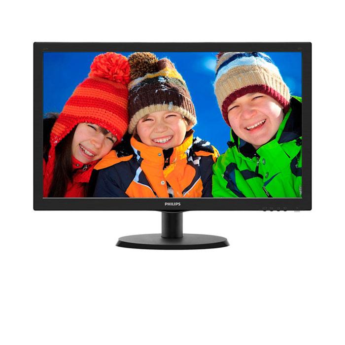 Philips 223V5LSB (00/01), Glossy Black монитор223V5LSBОцените яркое и реалистичное светодиодное LED-изображение и стильный глянцевый корпус. С функцией SmartControl Lite. Philips 223V5LSB (00/01) - выбор очевиден!Простая настройка характеристик дисплея с помощью SmartControl Lite:SmartControl Lite - программное обеспечение нового поколения для управления монитором с поддержкой 3D изображения. Графический интерфейс позволяет пользователю выполнять тонкую настройку различных параметров монитора, таких как Цвет, Яркость, Калибровка экрана, Multi-media, Управление идентификатором и т. д. с помощью мыши.SmartContrast: для насыщенных оттенков черного:SmartContrast - технология Philips, которая анализирует отображаемый контент и автоматически настраивает цвета и интенсивность подсветки для динамичного улучшения контраста. Тем самым обеспечивается оптимальный уровень контрастности и наилучшее качество цифрового изображения, а также большая насыщенность темных оттенков, что особенно важно во время игр. При выборе экономичного режима уровень контрастности регулируется, а подсветка настраивается для оптимальной работы со стандартными офисными приложениями и экономии электроэнергии.Дисплей 16:9 Full HD для комфортного просмотра:ЖК-дисплей Full HD имеет разрешение 1920x1080р - самое высокое из всех разрешений HD-источников, обеспечивающее изображение наилучшего качества. Это настоящий дисплей будущего, который может принимать сигналы с разрешением 1080р со всех источников, включая самые современные, такие как Blu-ray и современные игровые приставки HD. Значительно улучшенная обработка сигнала позволяет поддерживать его более высокое качество и разрешение. Все это создает великолепное изображение с прогрессивной разверткой без мерцания и потрясающими цветами и яркостью.Светодиодная LED-технология для ярких цветов:Белые светодиоды - это устройства, достигающие предельной яркости за меньшее время. Светодиоды не содержат ртути, что обеспечивает экологичный производственный процесс и