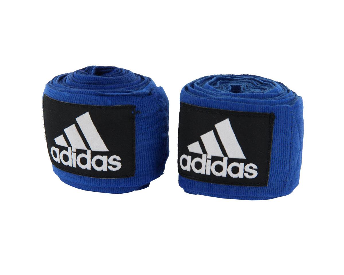 Бинт эластичный Adidas Boxing Crepe Bandag, цвет: синий, 350 см, 2 штadiBP03