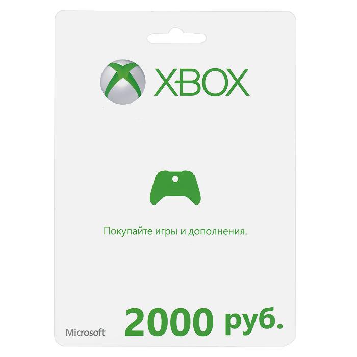 Карта оплаты Xbox LIVE (RU). 2000 рублей