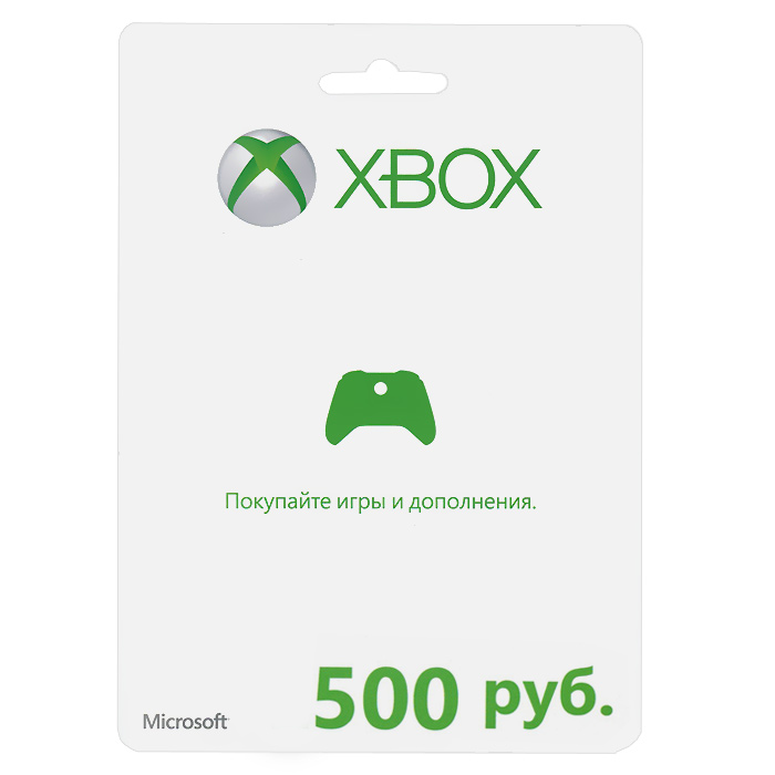Карта оплаты Xbox LIVE (RU). 500 рублей, Microsoft Corporation