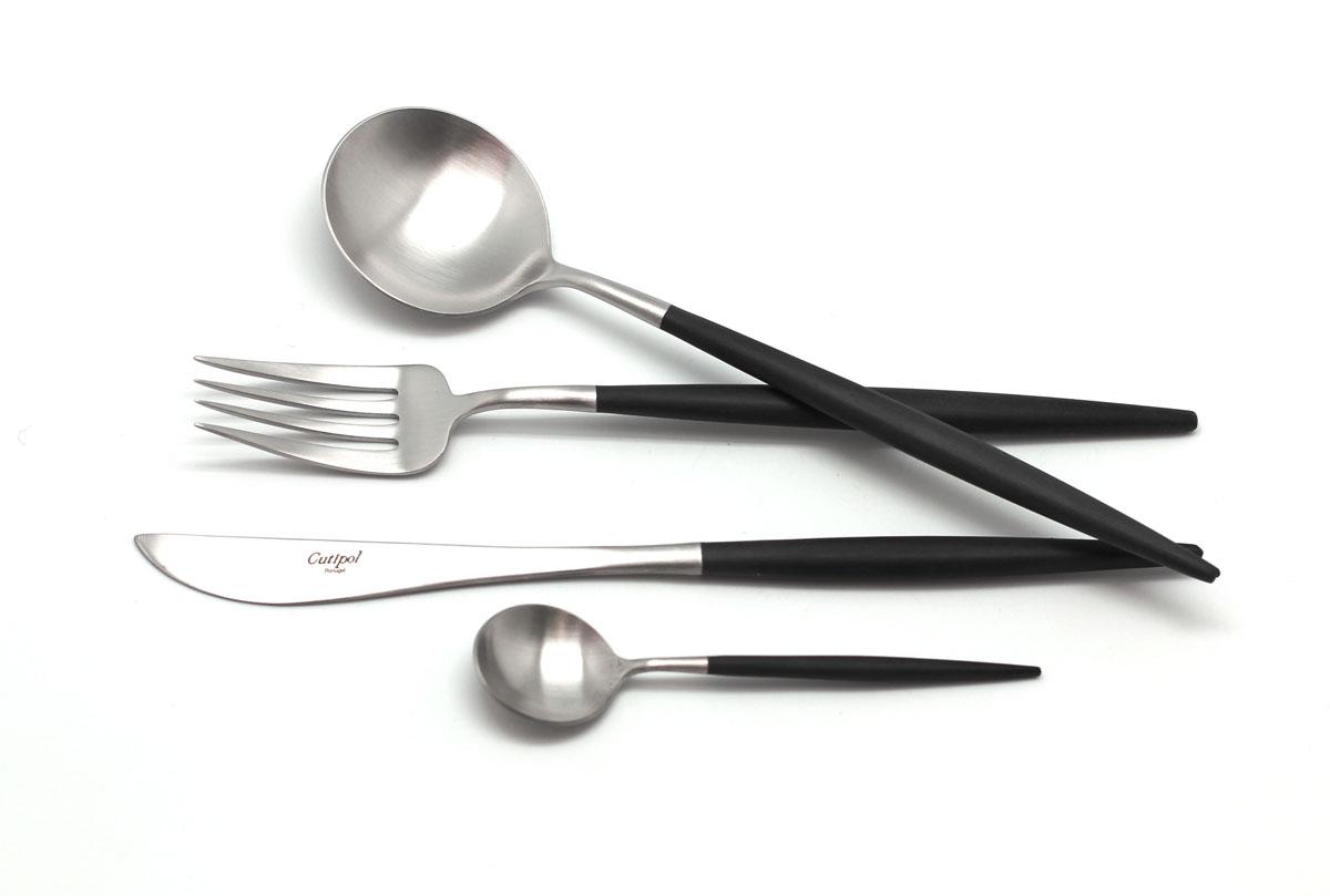 Набор столовых приборов Cutipol Goa, цвет: серебристый, черный, 72 предмета. 9260-72 набор метчиков 14х2мм 2 шт fit 70852