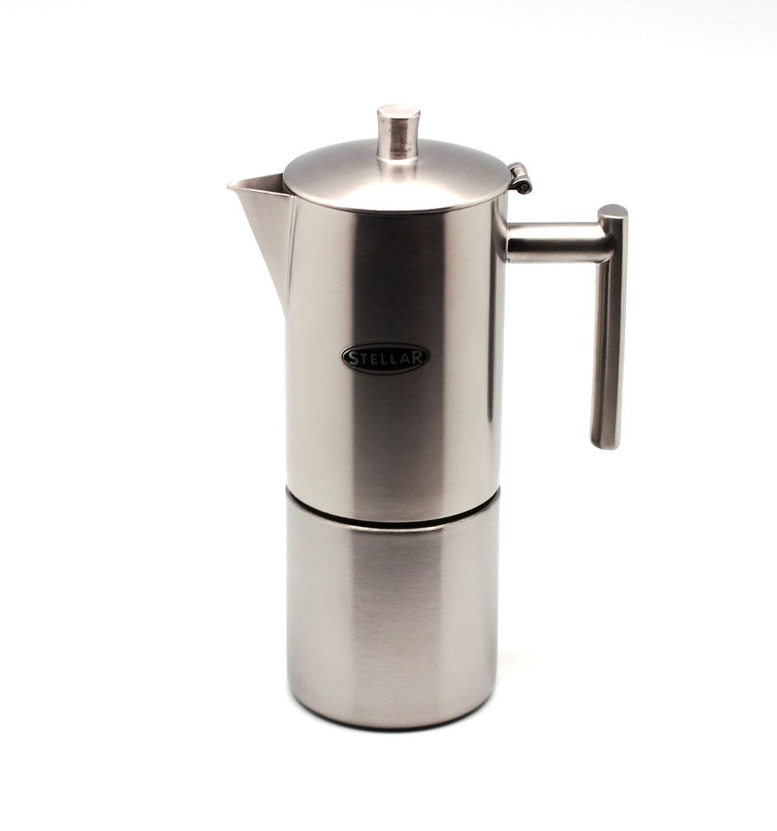 Кофеварка эспрессо Silampos Oslo, 6 чашек, цвет: матовая сталь, 400 мл. 41281318SM52 мельница для кофе silampos stellar с ложкой