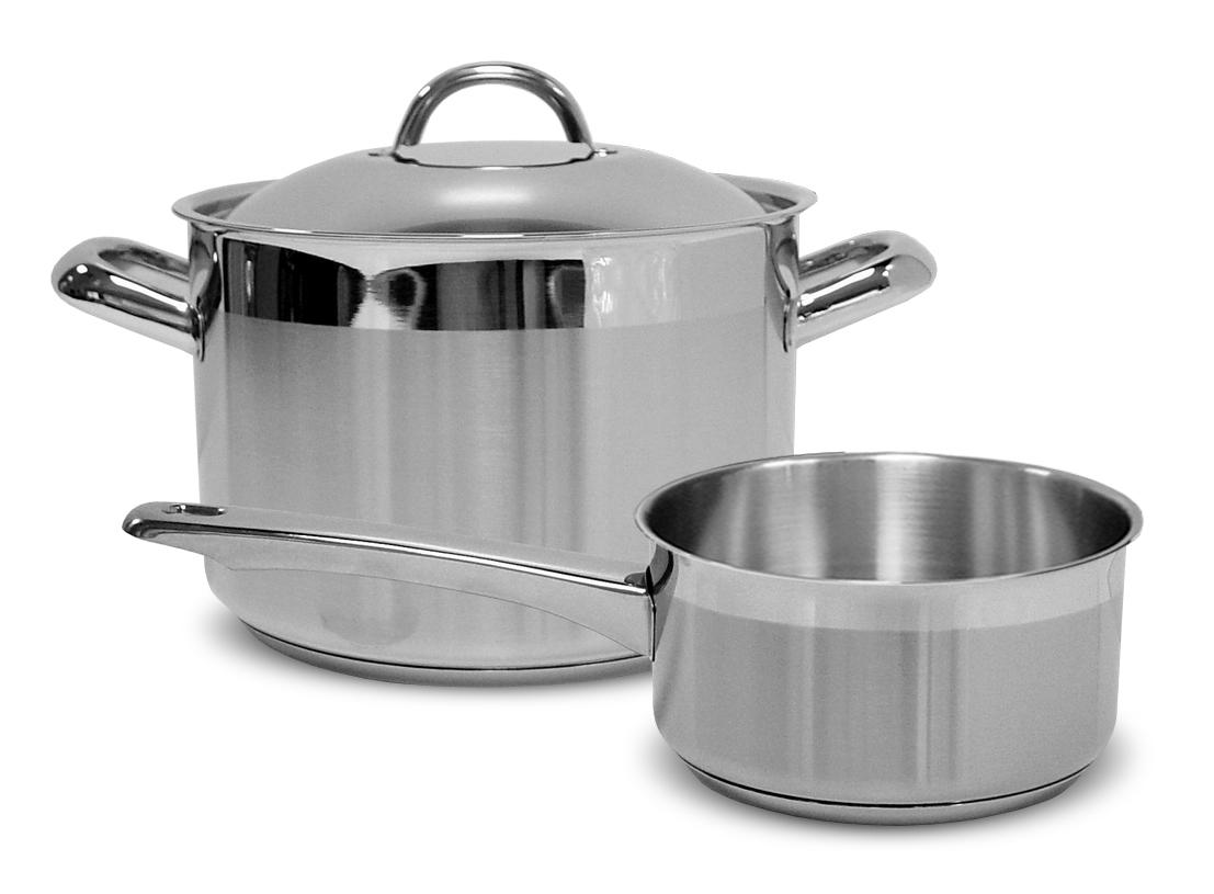 Набор посуды Silampos Европа, цвет: стальной, 3 предмета доставка продуктов европа липецк