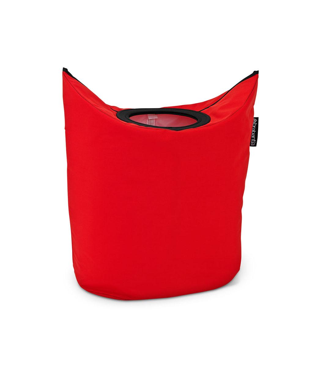 Сумка для белья Brabantia, овальная, цвет: красный, 50 л. 101144101144Оригинальная сумка для белья экономит место и превращает вашу стирку в увлекательное занятие. С помощью складывающихся магнитных ручек сумка закрывается и превращается в корзину для белья с загрузочным отверстием. Собрались стирать? Поднимите ручки, и ваша сумка готова к использованию. Загрузочное отверстие для быстрой загрузки белья просто сложите магнитные ручки.Большие удобные ручки для переноски. Удобно загружать белье в стиральную машину - большая вместимость и широкое отверстие. 2 года гарантии Brabantia.