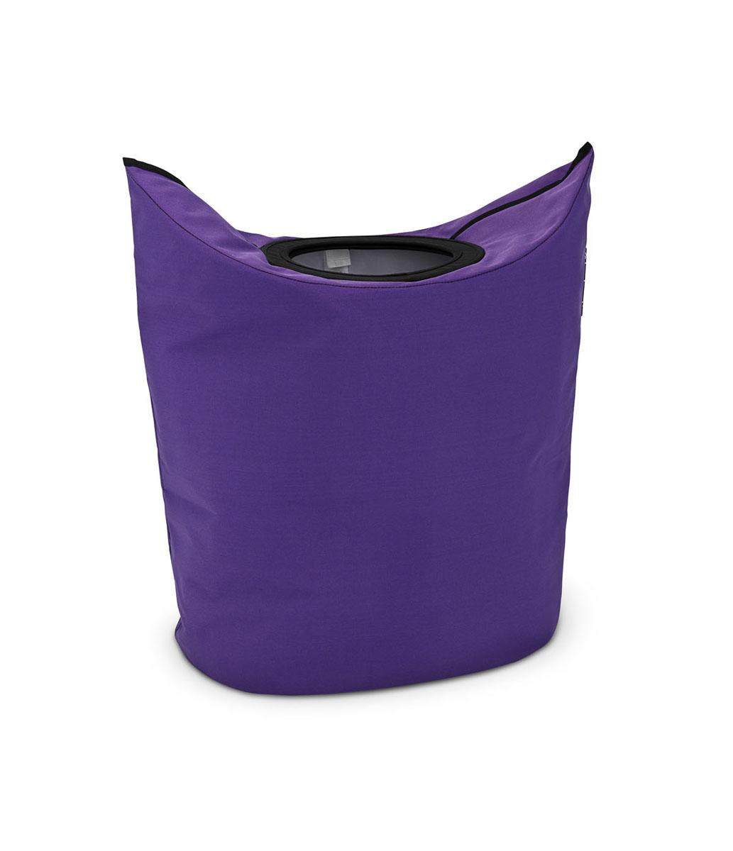 Сумка для белья Brabantia, овальная, цвет: фиолетовый, 50 л. 101168101168Оригинальная сумка для белья экономит место и превращает вашу стирку в увлекательное занятие. С помощью складывающихся магнитных ручек сумка закрывается и превращается в корзину для белья с загрузочным отверстием. Собрались стирать? Поднимите ручки, и ваша сумка готова к использованию. Загрузочное отверстие для быстрой загрузки белья просто сложите магнитные ручки.Большие удобные ручки для переноски. Удобно загружать белье в стиральную машину - большая вместимость и широкое отверстие. 2 года гарантии Brabantia.