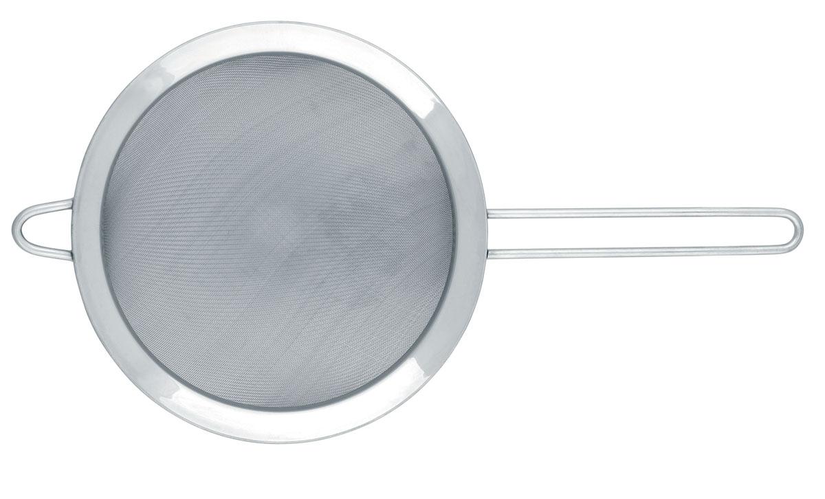 Идеально подходит для процеживания больших порций.  Легко моется в посудомоечной машине.  Имеется петелька для подвешивания и удобная длинная ручка.