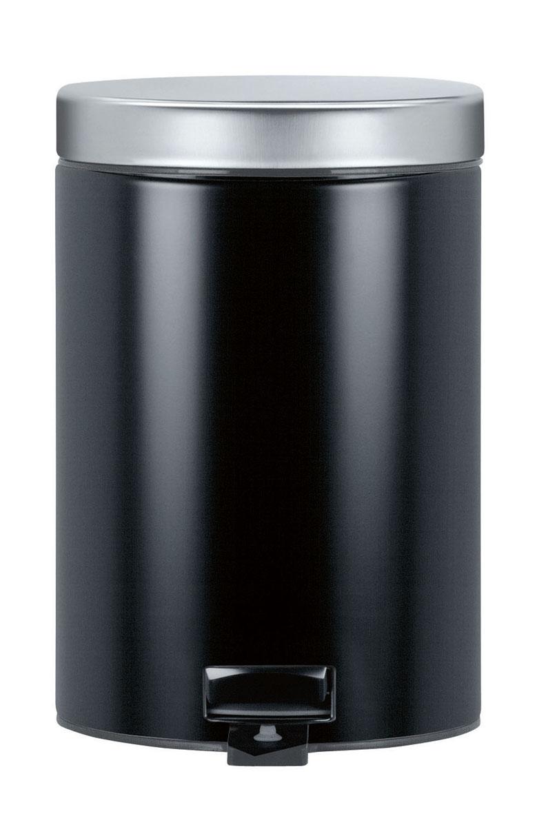 Бак мусорный Brabantia, с педалью, цвет: черный, 3 л. 335785335785Отличный выбор для ванной комнаты и туалета! Бесшумный и не пропускающий запах бак. Удобная очистка – съемное внутреннее ведро из пластика. Настенный бак легко снимается с изготовленного из нержавеющей стали держателя для оптимальной очистки. Долговечность – изготовлен из высококачественных коррозионно-стойких материалов. Всегда опрятный вид – идеально подходящие по размеру мешки для мусора со стягивающей лентой (размер A). 10-летняя гарантия Brabantia.