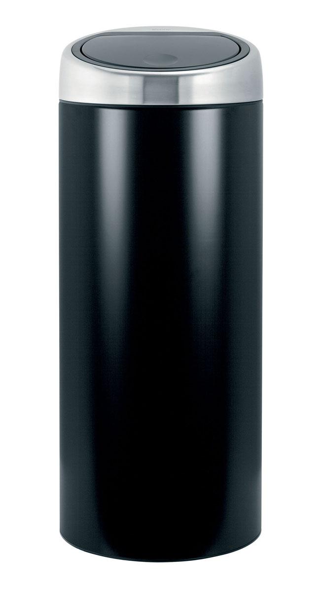 Бак мусорный Brabantia Touch Bin, цвет: черный стальная, 30 л. 378744378744Стильный Touch Bin на 30 литров – непременный атрибут каждой гостиной или кухни. Порадуйте себя и удивите гостей! Бесшумное открывание/закрывание крышки легким касанием – система «soft touch». Удобная смена мешков для мусора – съемный блок крышки из нержавеющей стали. Удобная очистка – съемное внутреннее ведро из пластика с вентиляционными отверстиями, предотвращающими образование вакуума при вынимании полного мусорного мешка. Легкое перемещение с места на место – прочная ручка для переноски. Предохранение пола от повреждений – пластиковый защитный обод. Бак изготовлен из коррозионно-стойких материалов – долговечность и удобство в очистке. Всегда опрятный вид – идеально подходящие по размеру мешки для мусора со стягивающей лентой (размер G). 10-летняя гарантия Brabantia.