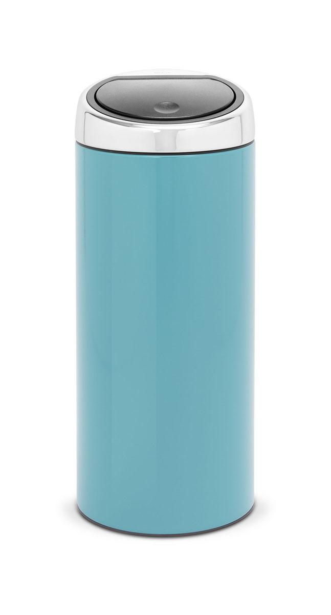 Мусорный бак Brabantia Touch Bin, цвет: бирюзовый, 30 л481925Стильный Touch Bin на 30 литров – непременный атрибут каждой гостиной или кухни. Порадуйте себя и удивите гостей! Бесшумное открывание/закрывание крышки легким касанием – система soft touch; Удобная смена мешков для мусора – съемный блок крышки из нержавеющей стали; Удобная очистка – съемное внутреннее ведро из пластика с вентиляционными отверстиями, предотвращающими образование вакуума при вынимании полного мусорного мешка; Легкое перемещение с места на место – прочная ручка для переноски; Предохранение пола от повреждений – пластиковый защитный обод; Бак изготовлен из коррозионно-стойких материалов – долговечность и удобство в очистке; Всегда опрятный вид – идеально подходящие по размеру мешки для мусора с завязками (размер C); 10-летняя гарантия Brabantia. Характеристики: Материал: сталь.Размер: 304*303*760мм.Артикул: 481925.