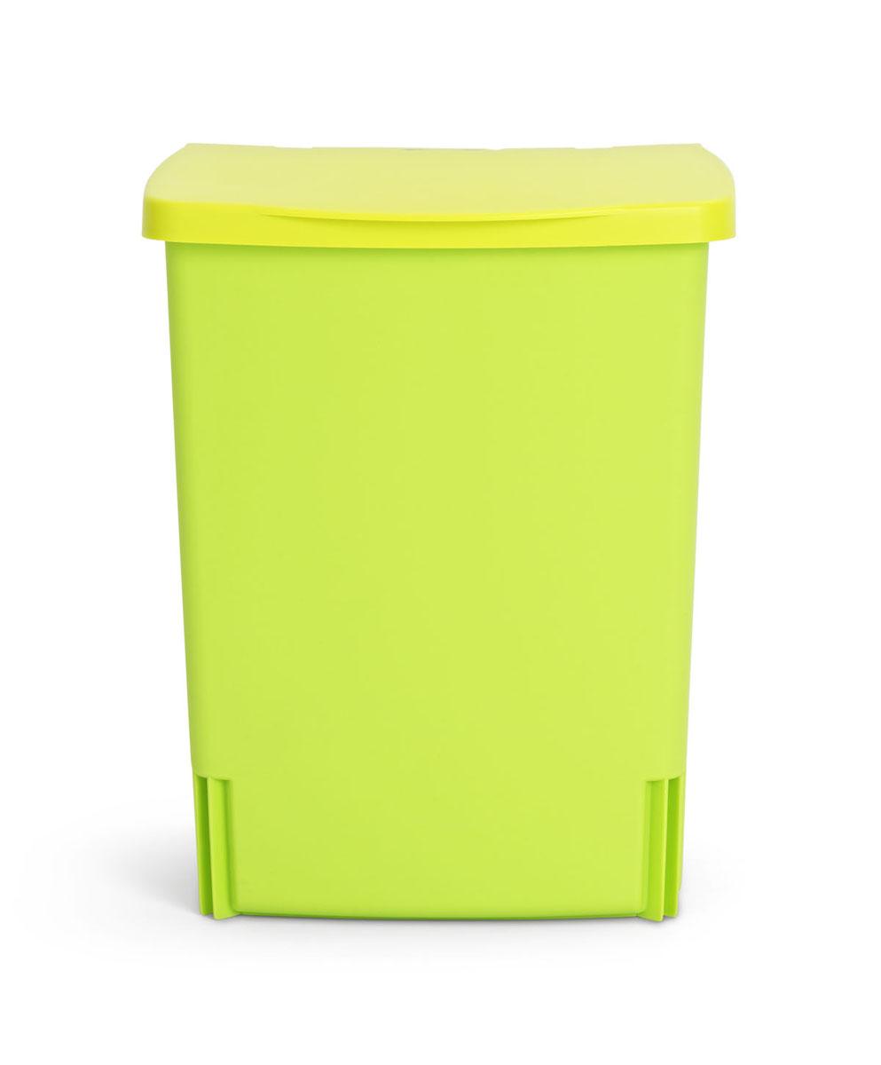 Ведро для мусора Brabantia, встраиваемое, цвет: салатовый, 10 л482229Бак идеально подходит для использования в помещениях с повышенной влажностью (ванная комната, кухня и т.д.). Изготовлен из высококачественного пластика. Оптимальное сочетание цена-качество. Удобная очистка и использование – ведро легко устанавливается на кронштейн и снимается с него. Всегда опрятный вид – идеально подходящие по размеру мешки для мусора PerfectFit (размер С).