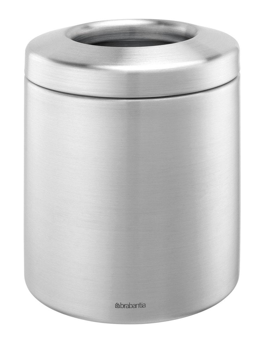 Контейнер для мусора Brabantia, настольный, цвет: стальной матовый, 1 л. 297960297960Стильное, компактное и эстетичное решение для сбора мусора на вашем столе – всегда опрятный стол. Легко освобождается от мусора и моется – съемная металлическая крышка. Контейнер можно мыть в посудомоечной машине. Изделие может использоваться в офисах, на предприятиях общественного питания и в различных учреждениях. Прочное долговечное изделие – корпус и крышка изготовлены из бесшовной нержавеющей стали.