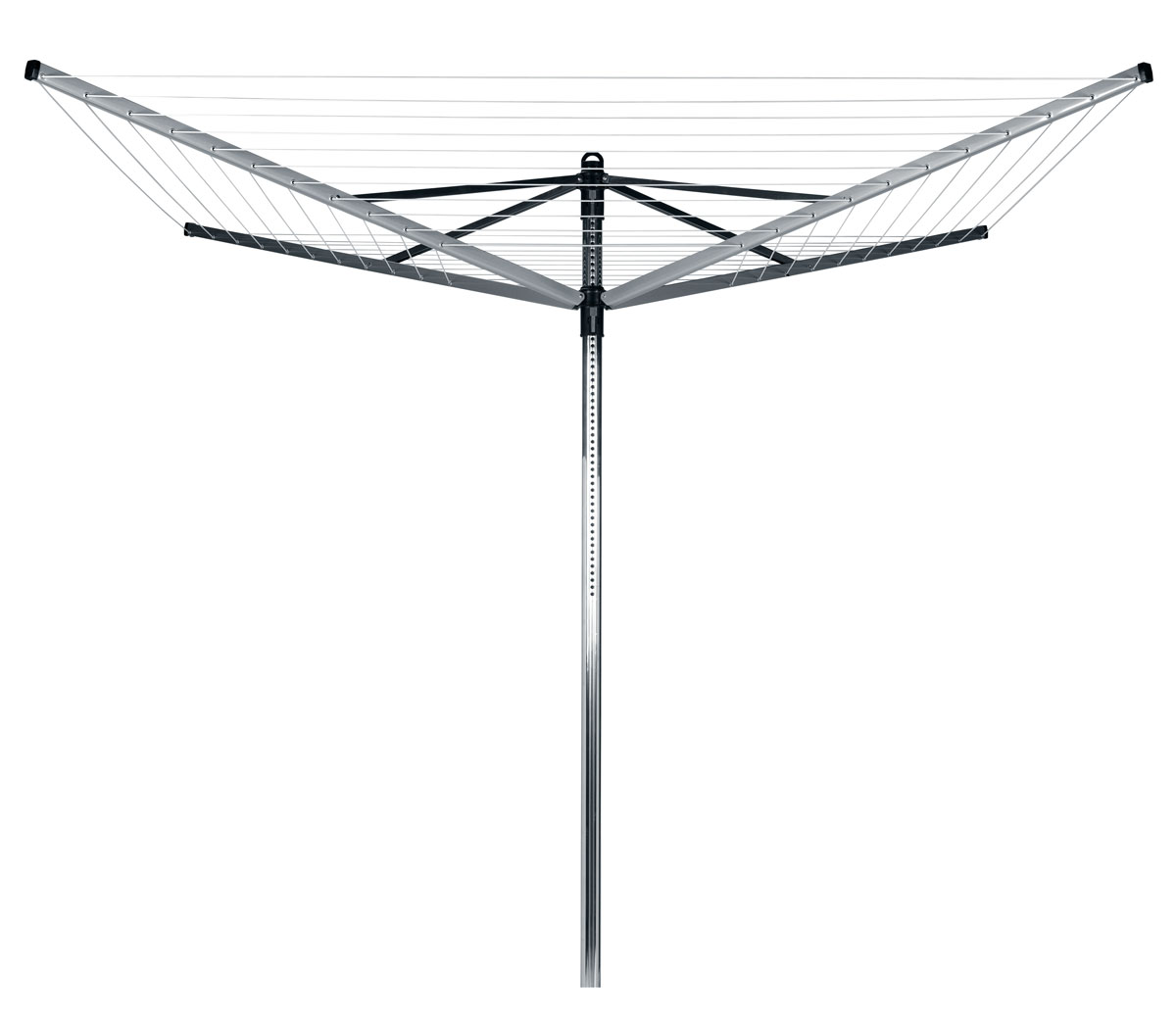 Сушилка для белья Brabantia Lift-O-Matic, уличная, цвет: серый, 40 м. 311000 brabantia комплект бельевой веревки 12 м белый