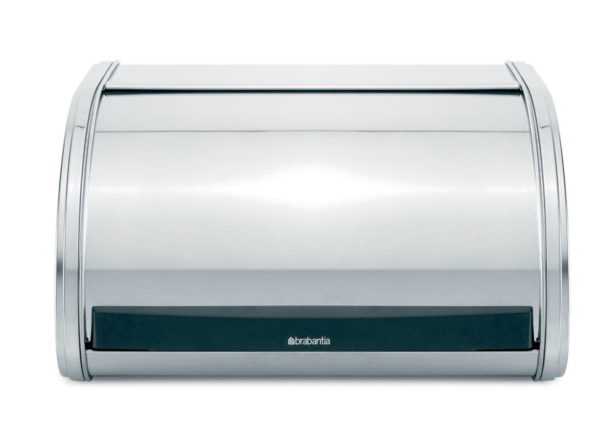 Хлебница Brabantia, цвет: стальной полированый. 339585339585Компактная хлебница – идеальное решение для небольшой кухни. Прочная и долговечная хлебница. Плоская верхняя поверхность обеспечивает дополнительное место для хранения. Компактная хлебница со сдвигающейся крышкой – не требуется дополнительное пространство при открывании. Изготовлена из коррозионностойкой высококачественной нержавеющей стали. Рифленая внутренняя поверхность дна улучшает циркуляцию воздуха внутри хлебницы. Пластиковый ограничитель с внутренней стороны обеспечивает бесшумное закрывание.