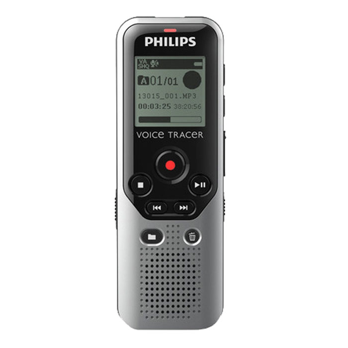 Philips DVT1200/00 диктофон philips vtr5800 digital recorder voice tracer with mp3 recording function