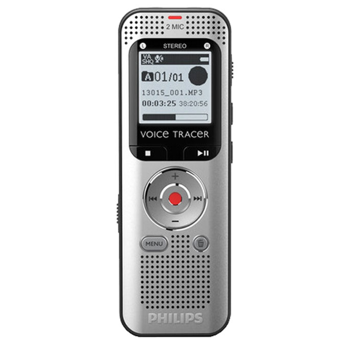 Philips DVT2000/00 диктофон philips vtr5800 digital recorder voice tracer with mp3 recording function
