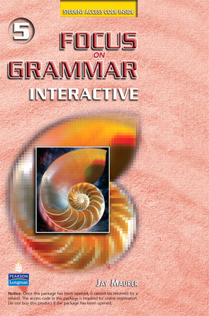 Focus on Grammar Interactive 5: Online Version understanding and using english grammar interactive student access code