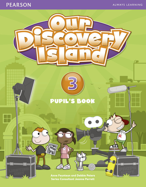 Our Discovery Island: Level 3: Pupil's Book (+ Access Code) thin vinyl vintage book shelf backdrop book case library book store printed fabric photography background f 2686