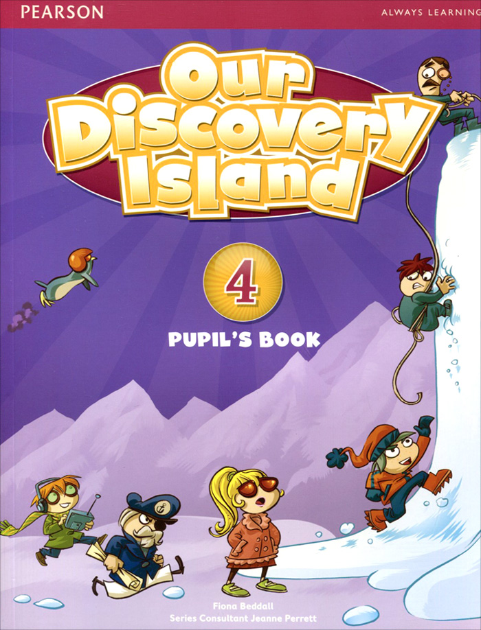 Our Discovery Island: Level 4: Pupil's Book + Access Code thin vinyl vintage book shelf backdrop book case library book store printed fabric photography background f 2686