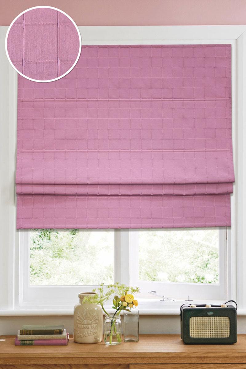 Римская штора Эскар Ammi, цвет: розовый, ширина 160 см, высота 160 см12013160160Римская штора Эскар Ammi, выполненная из высокопрочной ткани, является отличным заменителем обычных портьер. Ее можно установить там, где невозможно повесить обычные шторы. Конструкция шторы позволяет ее разместить даже на самых маленьких оконных проемах, а специальная пропитка ткани сделает данный вид декора окна эстетичным долгое время. Римская штора представляет собой полотно, по ширине которого параллельно друг другу вшиты пластиковые или деревянные рейки. На концах этих планок закреплены кольца, сквозь которые пропущен шнур. С его помощью осуществляется управление шторой. При движении шнура вниз происходит складывание полотна и его поднятие в верхнюю часть оконного проема. При закрывании шнур поднимается, а складки, образованные тканью, расправляются и опускаются на окно.Такая штора станет прекрасным элементом декора окна и гармонично впишется в интерьер любого помещения.Комплект для монтажа прилагается.