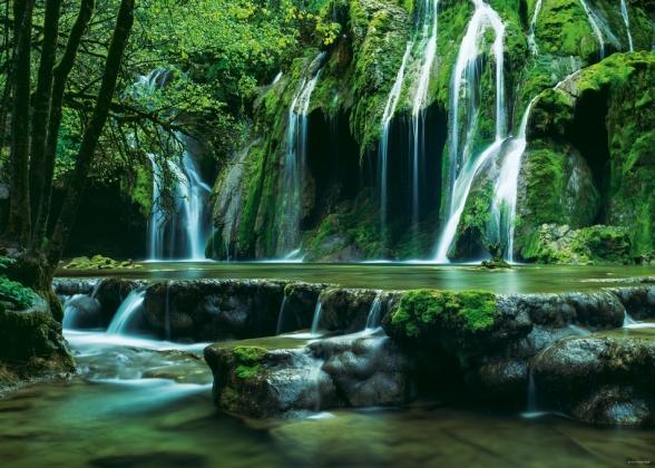 Каскад водопадов. Пазл, 1000 элементов