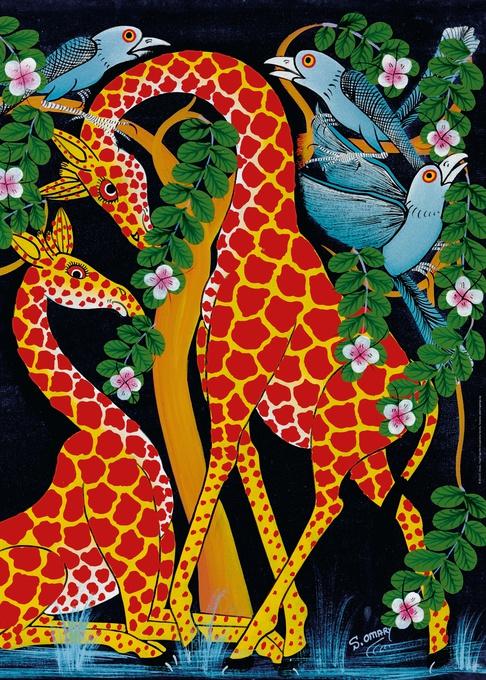 Жирафы-единение. Пазл, 1000 элементов