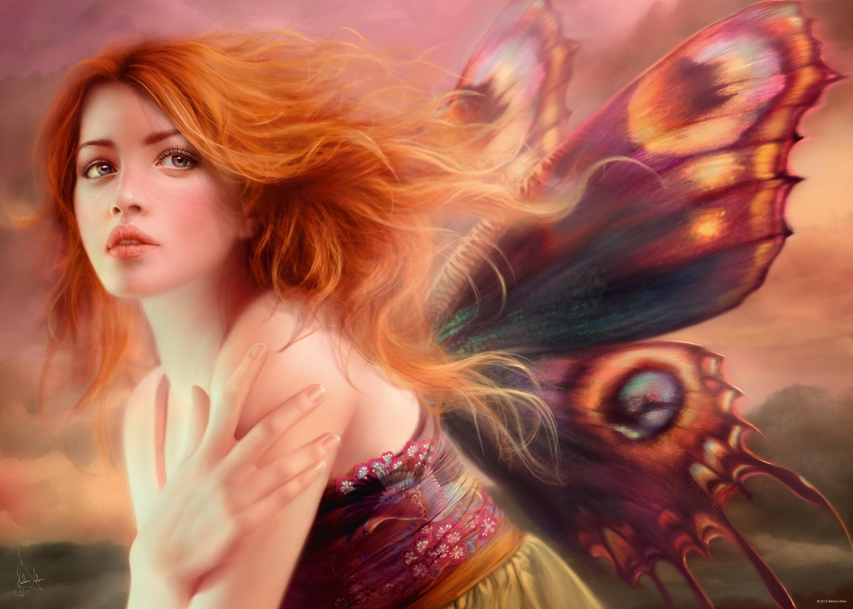 Фея с крыльями бабочки. Пазл, 1000 элементов