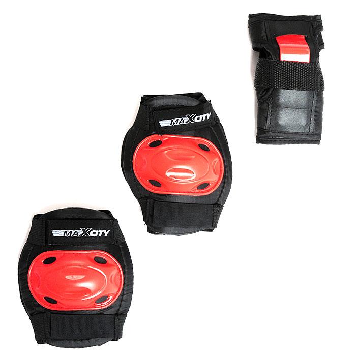 Защита роликовая MaxCity Bug, цвет: черный, красный. Размер М2770960253911