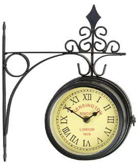 Часы настенные  Kensington  на кронштейне, цвет: черный. 17151 - Будильники