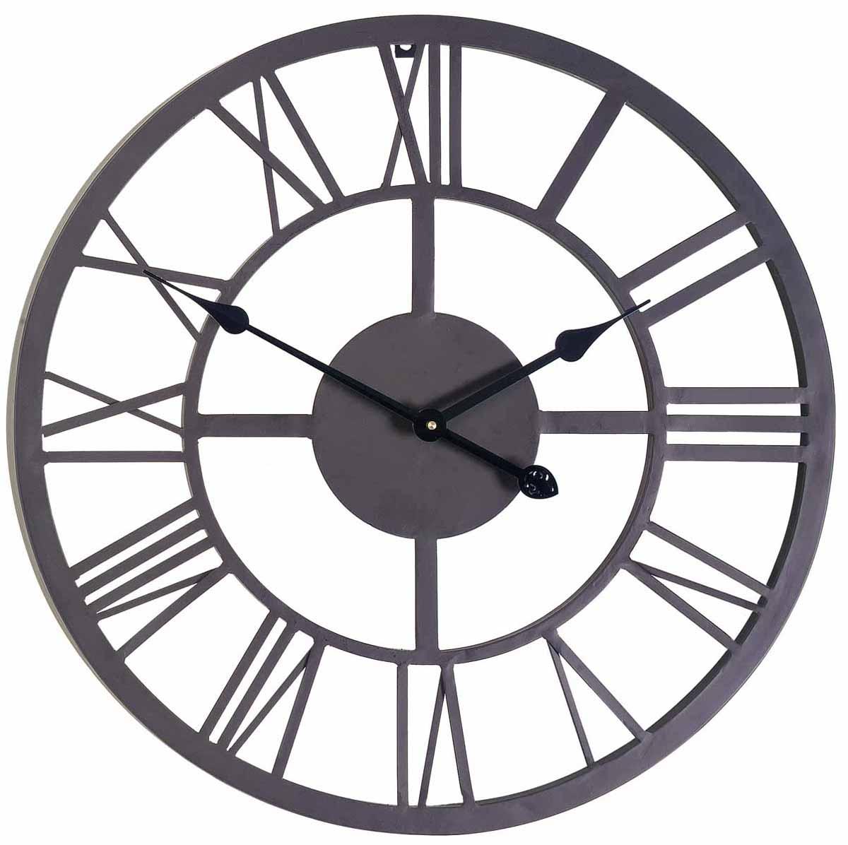 Часы настенные Gardman  Римские , цвет: черный, диаметр 56 см. 17176 - Будильники