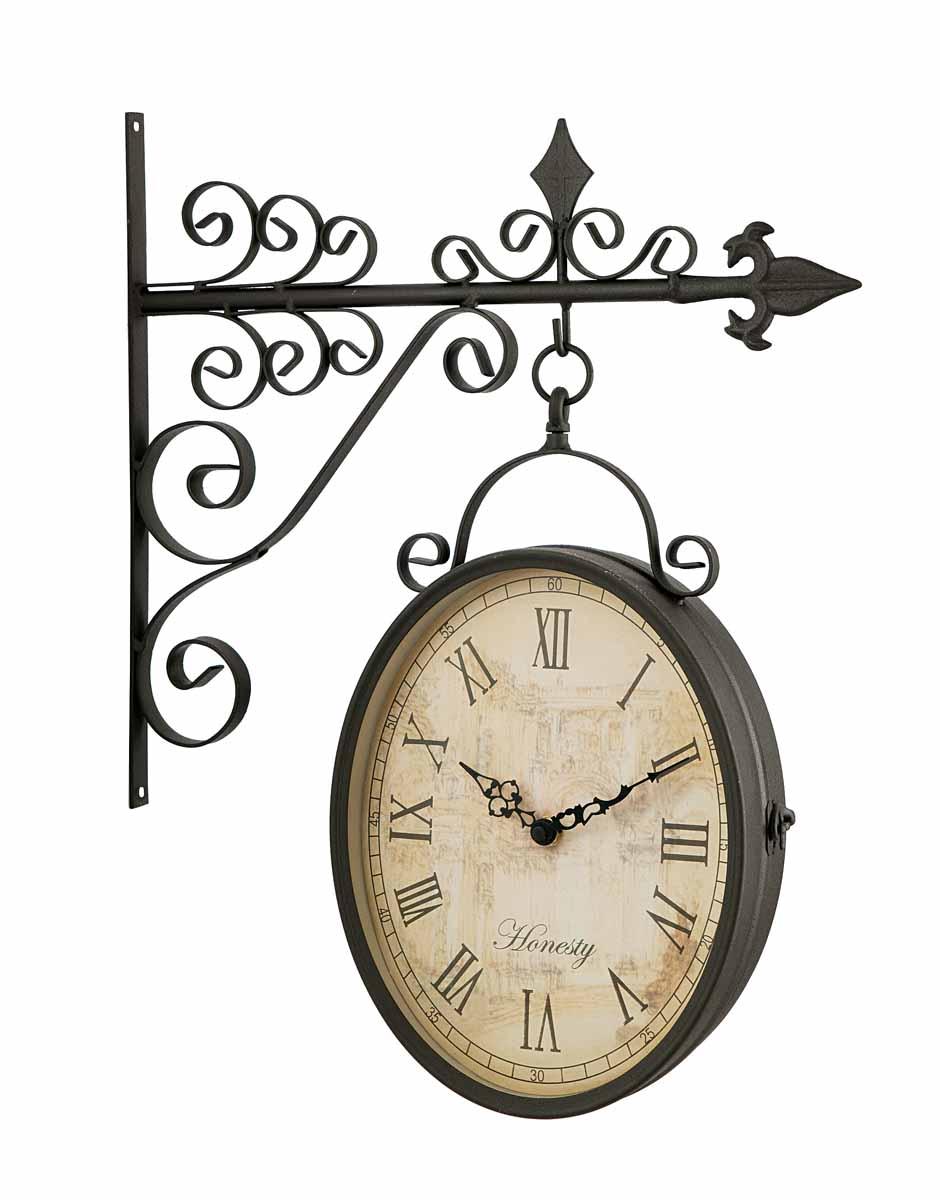 Часы настенные  Clarence  на кронштейне, цвет: серо-коричневый. 17188 - Будильники