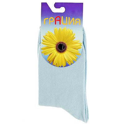 Носки женские Грация, цвет: голубой. М 1006. Размер 38/40 носки женские грация цвет светло серый h 003 размер 38 40
