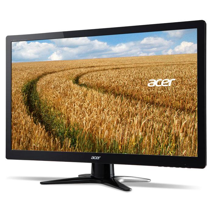 Acer G246HYLbd, Black мониторUM.QG6EE.002Acer G246HYLbd – 23.6-дюймовый ЖК-дисплей, который обеспечит вас превосходной широкоформатной картинкой. Одним из основных достоинств данного монитора является поддержка формата высокой четкости Full HD, благодаря чему он сможет воспроизводить графический контент в резком и детализированном изображении с разрешением 1920х1080.