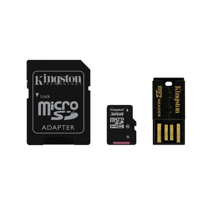 Kingston Mobility Kit microSDHC Class 10 32GB (MBLY10G2/32GB) карта памяти + адаптер microsdhc kingston 4gb class 4 sdc4 4gbsp