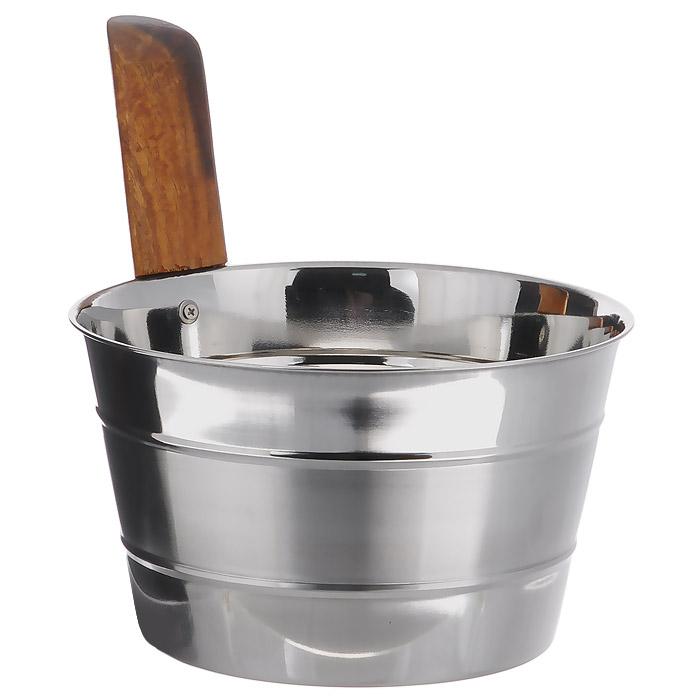 Бадья Банные штучки, нержавеющая сталь, 4 л32031Бадья Банные штучки выполнена из нержавеющей стали и оснащена удобной деревянной рукояткой. Бадья станет незаменимым аксессуаром для отдыха в бане или сауне. Характеристики:Материал: нержавеющая сталь, дерево. Объем: 4 л. Диаметр бадьи по верхнему краю: 22 см. Высота стенки бадьи: 15 см. Длина рукоятки: 17 см.