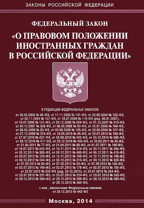 Федеральный Закон О правовом положении иностранных граждан в Российской Федерации