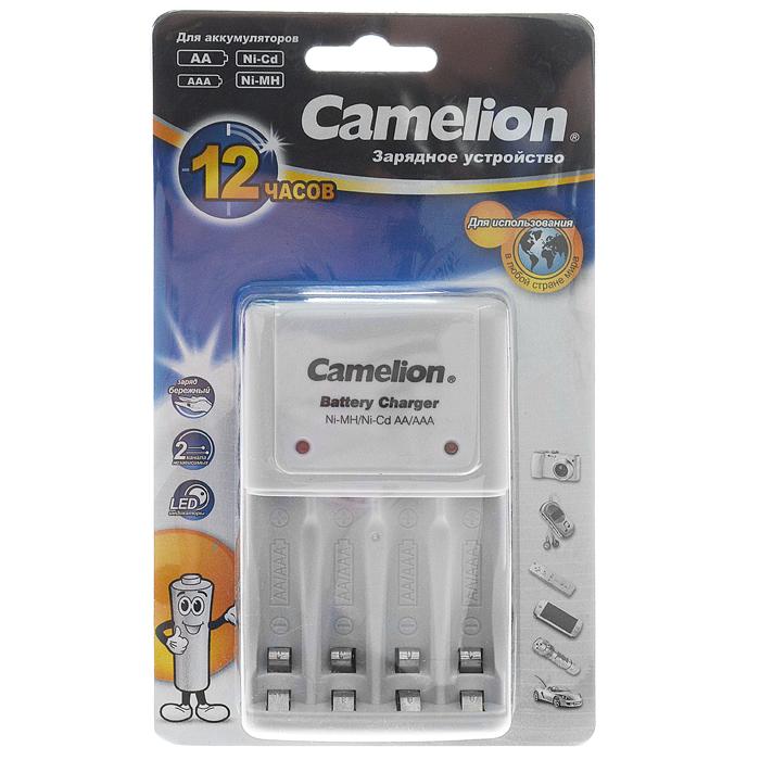 Camelion BC-1010B ЗУ для 2-4AA/AAA, 200мА, 1 шт10357Быстрое зарядное устройство Camelion BC-1010B для аккумуляторов типа АА и ААА.