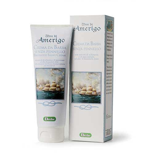 Derbe Крем для бритья Terre Di Amerigo, 125 млA901521993Крем без мыла для бритья Derbe Terre Di Amerigo подходит для самой чувствительной кожи, склонной к образованию трещин и порезов после бритья, для кожи, склонной к покраснению и раздражению. Смягчает и увлажняет. Характеристики:Объем: 125 мл. Товар сертифицирован.