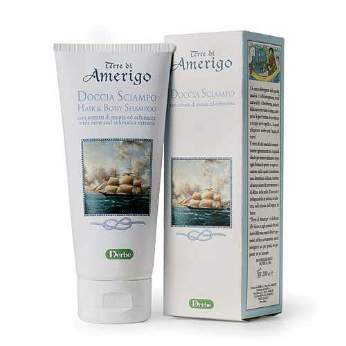 Derbe Шампунь для волос и тела Terre Di Amerigo, 200 мл шампунь кря кря дыня 200 мл