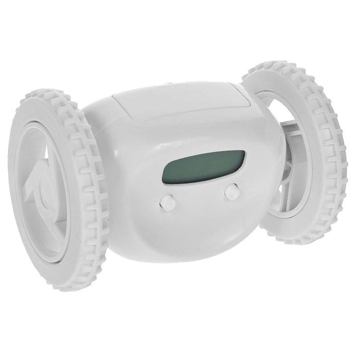 Часы-будильник Инопланетянин, цвет: белый. 9348293482Часы-будильник Инопланетянин, несомненно, разбудят абсолютно любую соню. По крайней мере, подняться и немного побегать, чтобы его выключить, точно придется. В назначенное время он начинает звенеть и параллельно с этим уезжает со своего места. Корпус выполнен из пластика белого цвета. На корпусе часов расположены маленькие глазки-кнопки, они предназначены для программирования будильника. Установите будильник на необходимое время, и оно отобразится на жидкокристаллическом экране-ротике.С таким будильником опоздания в школу или на работу исключены! Станет забавным подарком для друзей и близких. Характеристики: Материал: пластик. Цвет: белый. Размер будильника (ДхШхВ): 13,5 см х 9 см х 9 см. Будильник работает от 4 батареек типа АА (в комплект не входят).
