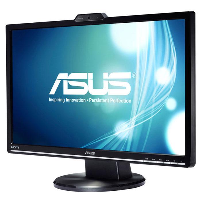 Asus VK248H, Black монитор90LMF5001Q01241C-Мультимедийный монитор Asus VK248H со встроенной веб-камерой, стереодинамиками и интерфейсом HDMI.Технология Asus Smart Contrast Ratio:Благодаря технологии ASCR, которая динамически изменяет яркость подсветки в зависимости от текущегоизображения, контрастность данного монитора достигает фантастического уровня – 50 000 000:1.Общение в реальном времени:Встроенная HD веб-камера позволяет общаться лицом к лицу с вашей семьей, друзьями или партнерами поонлайн играм. Технология Smart Exposure Value компенсирует недостаточную освещенность и обеспечиваетболее высокое качество изображения по сравнению с обычными веб-камерами. В комплект поставки входитпрограмма для создания видеоклипов и слайд-шоу LifeFrame2.Функция контроля соотношения сторон:Функция контроля соотношения сторон позволяет пользователям указать предпочтительный способотображения видеоматериала при масштабировании: растягивать картинку на весь экран или сохранятьсоотношение сторон 4:3.Технология Splendid Video Intelligence:Эксклюзивная технология Splendid Video Intelligence позволяет быстро настраивать монитор в соответствии стекущими задачами и условиями (игры, просмотр фото, работа в ночное время и т.д.), чтобы получитьмаксимально качественное изображение. Всего доступно пять вариантов настройки. Между ними можно легкопереключаться нажатием на специально выделенную для этого кнопку.Виртуальная линейка QuickFit:Эксклюзивная функция QuickFit представляет собой виртуальную линейку, которую можно отобразить наэкране нажатием горячей клавиши, чтобы понять, насколько изображение соответствует тому или иномуформату, не распечатывая его на бумаге.