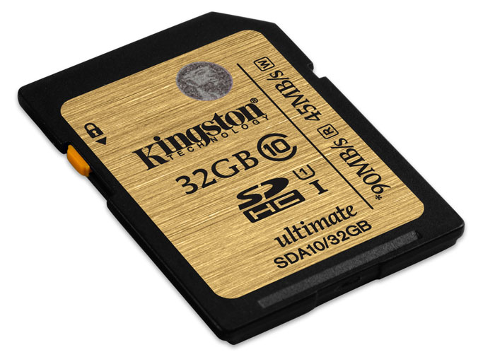 Kingston SDHC Class 10 UHS-I Ultimate 32GB (SDA10/32GB) карта памяти kingston sda10 64gb sdhc 64гб class 10