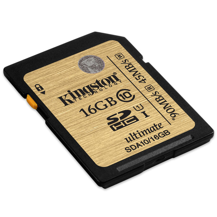 Kingston SDHC Class 10 UHS-I Ultimate 16GB (SDA10/16GB) карта памяти