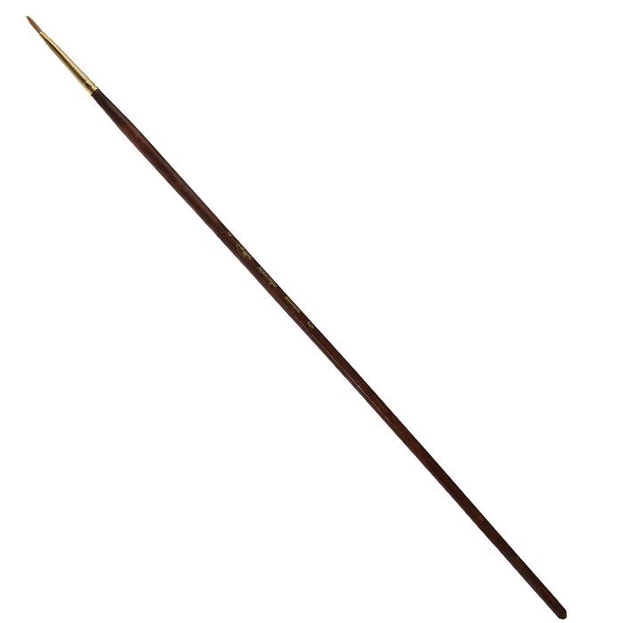 Кисть художественная Гамма Маэстро, колонок, овальная, №4426.004Колонок - промысловый зверек, относится к виду хищных млекопитающих из рода ласок и хорей. Его мех высоко ценится, а длинные волоски из хвоста идут на кисти для художников. Волос колонковых кистей тонкий, упругий имеет коническую форму. Пучок колонковой кисти состоит из волосков разной длины, которые при соприкосновении наполненной кисти с поверхностью, создают капиллярный поток. С кончика кисти краска стекает непрерывным потоком и с превосходной консистенцией. Они предназначены для художественных работ с акварелью, маслом, темперой, гуашью и акрилом. Характеристики: Материал: натуральный мех, дерево. Общая длина кисти: 28,3 см. Диаметр рукоятки кисти: 5 мм. Номер кисти: 4. Длина щетины: 8 мм.