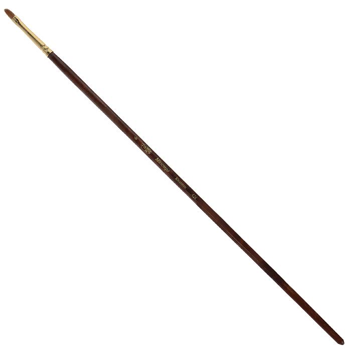 Кисть художественная Гамма Маэстро, колонок, овальная, №6426.006Колонок - промысловый зверек, относится к виду хищных млекопитающих из рода ласок и хорей. Его мех высоко ценится, а длинные волоски из хвоста идут на кисти для художников. Волос колонковых кистей тонкий, упругий имеет коническую форму. Пучок колонковой кисти состоит из волосков разной длины, которые при соприкосновении наполненной кисти с поверхностью, создают капиллярный поток. С кончика кисти краска стекает непрерывным потоком и с превосходной консистенцией. Они предназначены для художественных работ с акварелью, маслом, темперой, гуашью и акрилом. Характеристики: Материал: натуральный мех, дерево. Общая длина кисти: 28,3 см. Диаметр рукоятки кисти: 6 мм. Номер кисти: 6. Длина щетины: 9 мм.