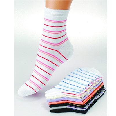 Носки женские Грация, цвет: белый, персиковый. М 1004-1. Размер 35/37 носки женские грация цвет телесный м1059 размер 35 37