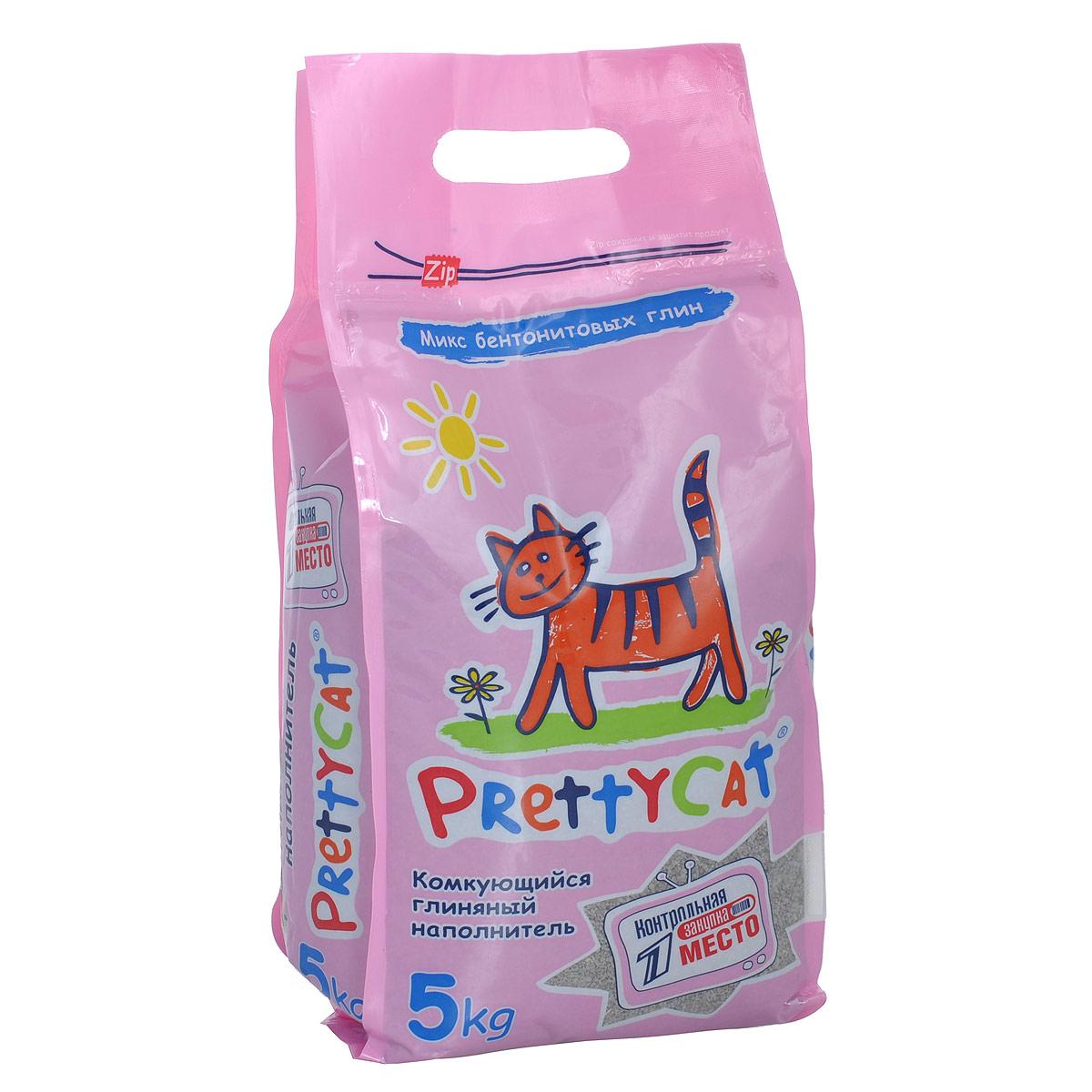 Наполнитель для кошачьих туалетов PrettyCat Euro Mix, комкующийся, 5 кг. 620291 наполнитель для кошачьих туалетов кошкин секрет древесный 2 5 кг