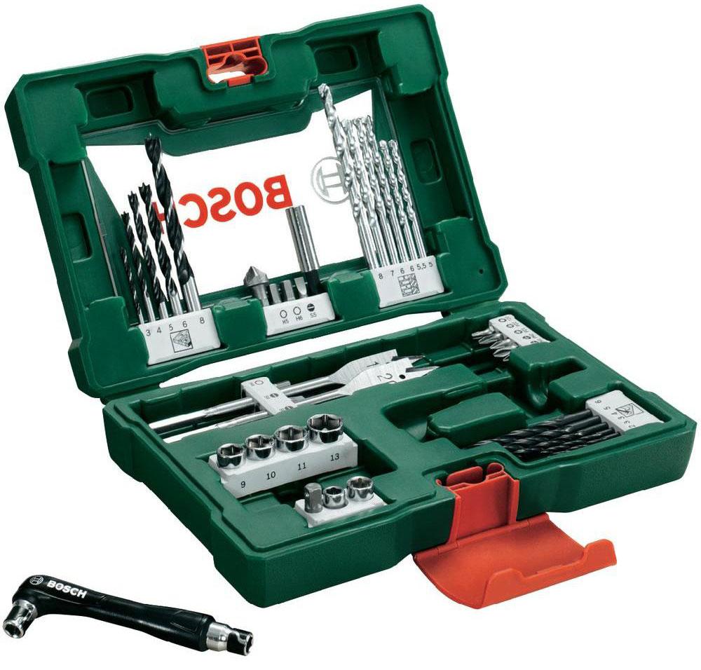 Набор принадлежностей Bosch V-Line, 41 предмет2607017316Набор инструментов Bosch V-Line предназначен для монтажа и демонтажа резьбовых соединений. Все инструменты в наборе изготовлены из высококачественной стали.Это необходимый предмет в каждом доме, набор станет незаменимым в Вашем хозяйстве.В набор входят:Сверла по металлу: 2, 2, 3, 3, 4, 5, 6 мм;Сверла по дереву: 5, 5,5, 6, 6, 7, 8 мм;Сверла по камню: 3, 4, 5, 6, 8 мм;Перьевые сверла: 16 мм и 20 мм;Биты 25 мм: PH1, PH2;Биты 25 мм: PZ1, PZ2;Биты 25 мм: SL4, SL5, SL6;Биты 25 мм: T20;Биты 25 мм: H4, H5, H6;Торцовые головки: 6, 8, 9, 10, 11, 13 мм;Зенкер;Магнитный держатель для бит;Двухсторонний держатель для бит.