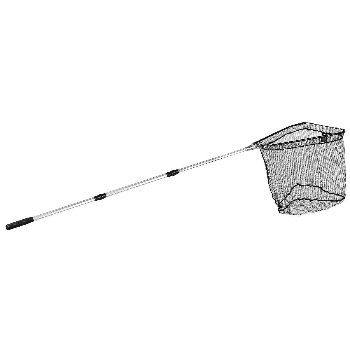 Подсачек складной Salmo, телескопический, 250 см х 77 см х 64 см7503-250Подсачек - важная деталь снаряжения любого рыболова. Удобный складной подсачек с треугольной формой сачка и телескопической ручкой. Размер ячейки 0,8 см х 0,8 см. На ручке расположен фиксатор для закрепления на поясе.Материал: металл, капрон.